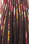 Fusta lunga cu pliseuri multicolore