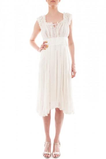 Rochie alba din voal