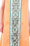 Rochie portocalie cu print Flower essences