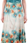 Rochie midi vascoza satinata From flower to flower