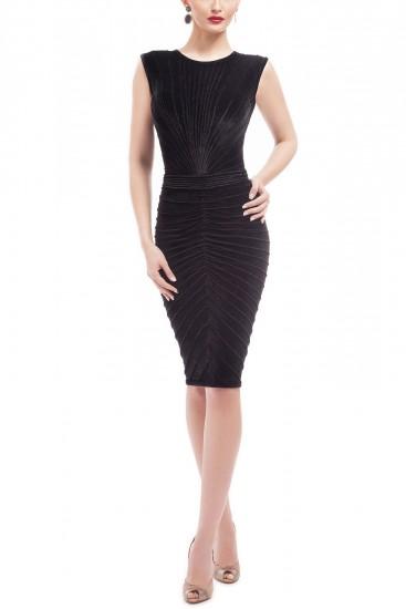 Rochie midi conica catifea neagra