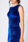 Rochie midi conica albastru electric
