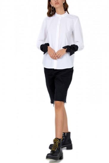 Camasa poplin alb negru Sunday