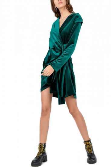 Rochie catifea verde Zinna