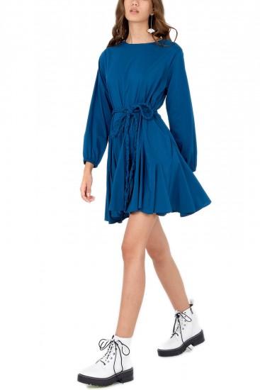 Rochie albastra cu clini Camilla