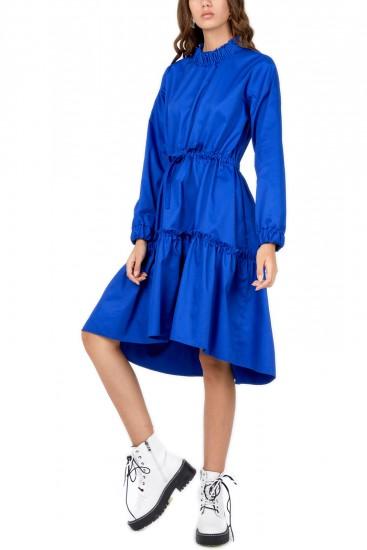 Rochie midi albastru electric Maiva
