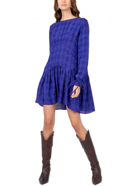 Rochie albastra din matase Amaya