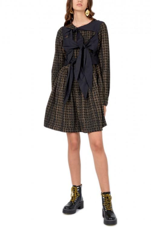 Rochie negru cu auriu Debra