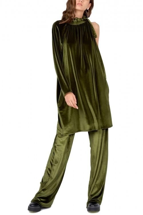 Costum elegant catifea verde Evora