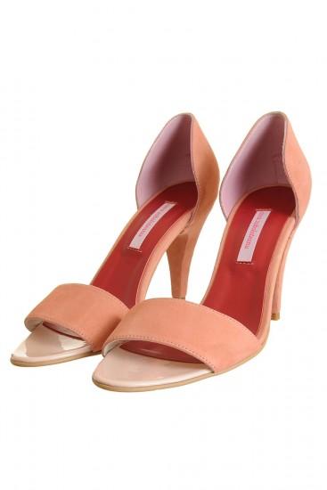 Sandale piele intoarsa rose