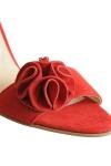 """Sandale piele intoarsa """"Flower"""""""