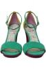 Sandale piele neon