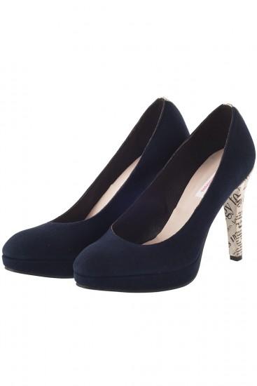 "Pantofi din piele ""Newspaper heel"""