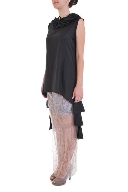 Bluza neagra asimetrica - Exclusiv pentru Endra