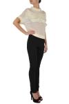 Pantaloni negri cu piele ecologica-Exclusiv pentru Endra