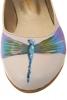 Balerini piele crem Dragonfly