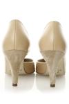 Pantofi cu varf ascutit piele nude