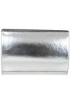 Geanta plic piele argintie