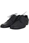 Pantofi barbati piele perforata neagra