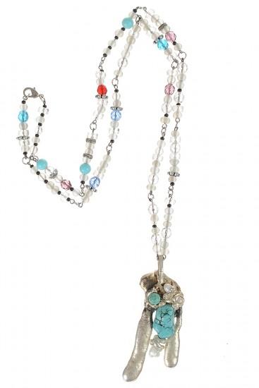 Colier pietre semipretioase si perle