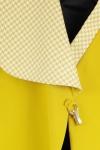 Sacou asimetric bumbac si detalii lana