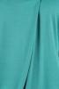 Bluza bumbac verde cu pliu asimetric