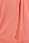 Bluza bumbac caramiziu cu pliu asimetric