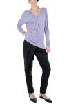 Pantaloni negri cu pliuri asimetrice