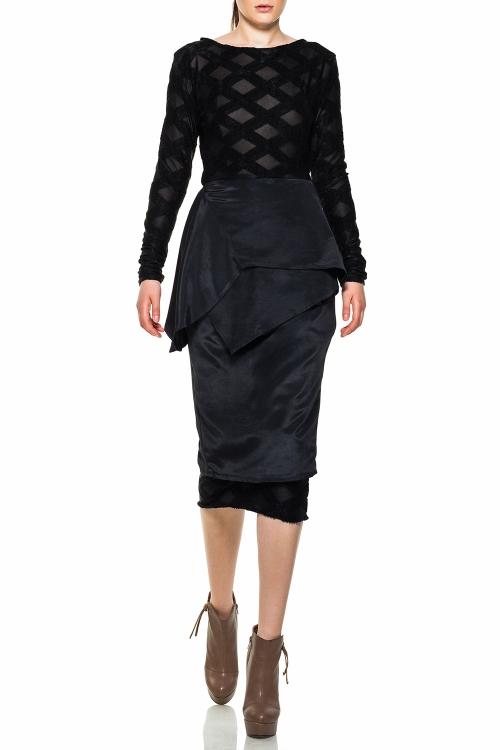 Rochie conica midi neagra