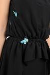 Rochie neagra cu aplicatii fluturi