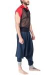 Pantaloni baggy bumbac albastru