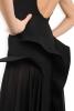 Rochie neagra cu dantela si decolteu spate