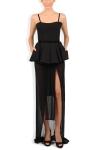 Rochie neagra cu peplum