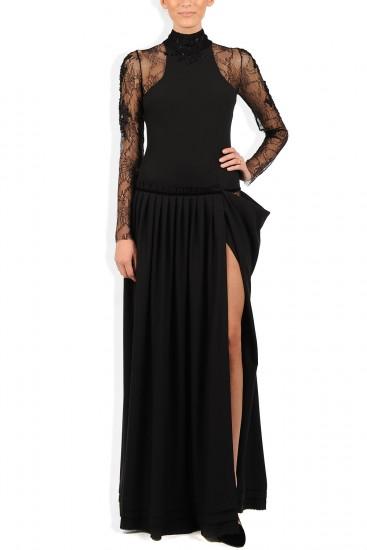 Rochie de seara dantela neagra