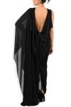 Rochie din voal negru cu spate gol