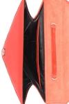 Geanta triunghi piele rosie cu ciucure