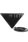Geanta triunghi piele neagra cu bareta detasabila