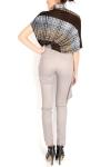 Pantaloni cu talie inalta si elemente asimetrice