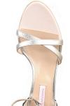 Sandale argintii cu dantela