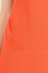 Rochie corai cu detalii asimetrice