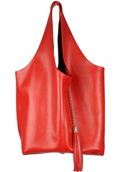 Geanta sac piele rosie cu portofel
