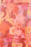 Fusta lunga din organza cu print floral