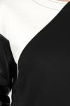 Bluza jerse bumbac cu decupaje geometrice