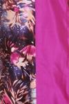 Rochie din matase naturala cu imprimeu floral