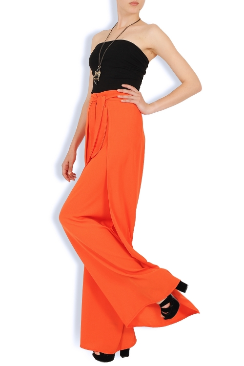 Pantaloni largi orange