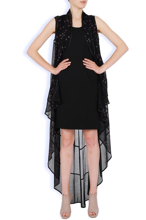 Rochie capa neagra din doua piese