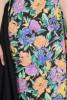 Rochie bumbac cu flori cu laterale transformabile