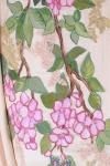 Rochie lunga din matase pictata manual