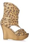 Sandale cu platforma si piele animal print