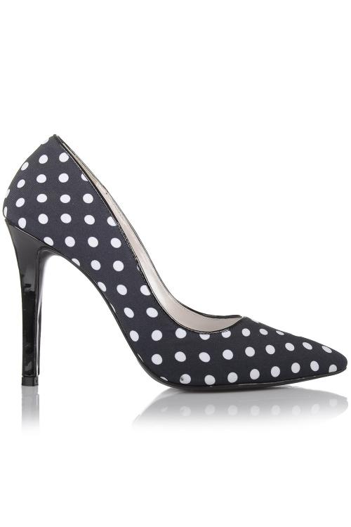 Pantofi stiletto cu buline
